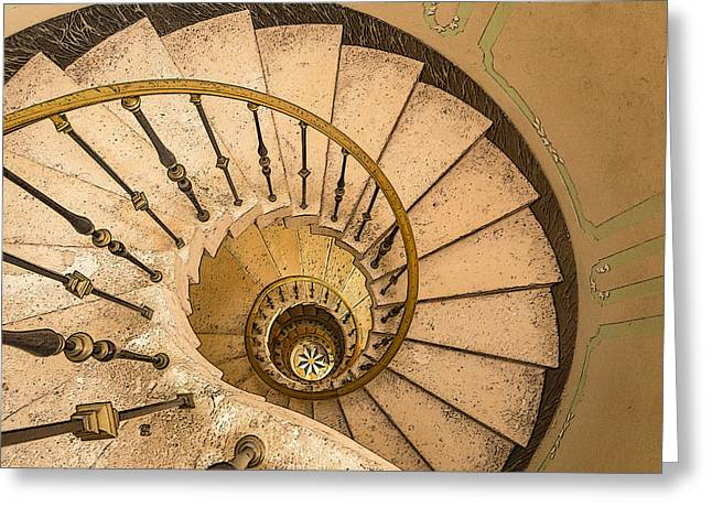 Winding Stairs Greeting Card by Greg Thiemeyer