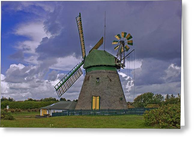 Windmill Amrum Germany Greeting Card