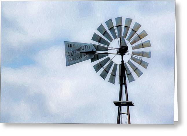 Greeting Card featuring the photograph Windmill Art -010 by Rob Graham
