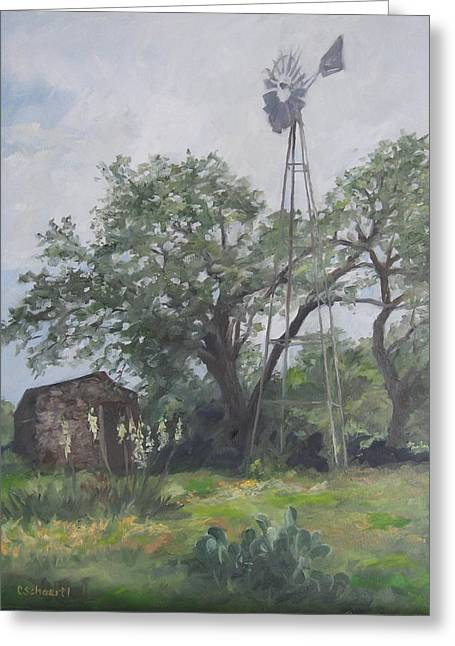 Windmill At Genhaven Greeting Card