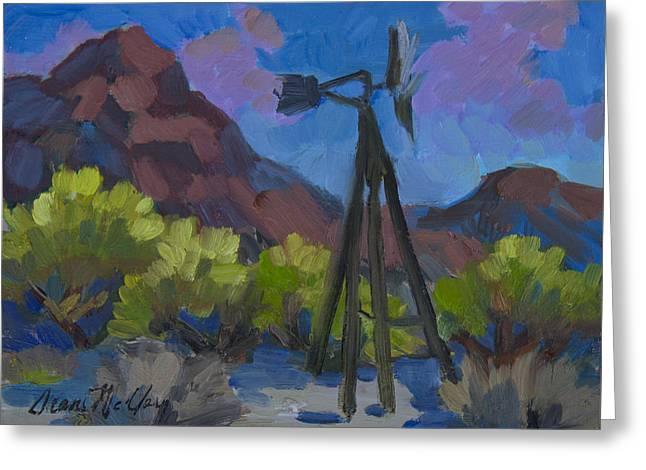 Windmill At Keys Ranch Joshua Tree Greeting Card by Diane McClary