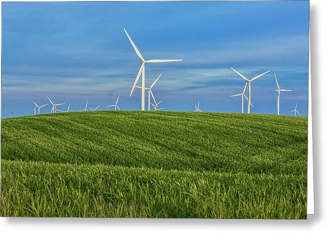 Greeting Card featuring the photograph Windmill Farm by Randy Bayne