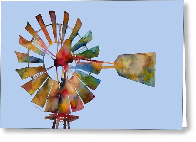 Windmill Greeting Card by Hailey E Herrera