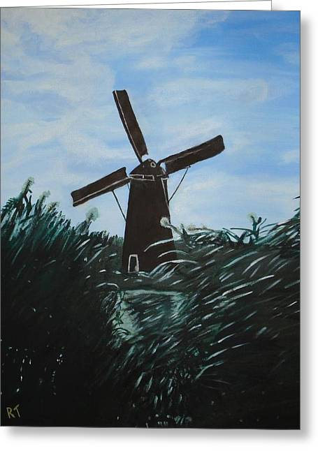 Windmill In Amsterdam Greeting Card