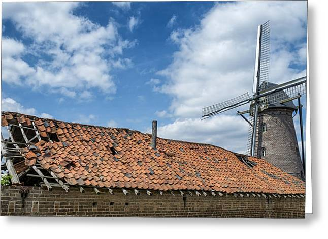 Windmill In Belgium Greeting Card