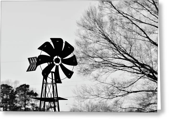 Windmill On The Farm Greeting Card
