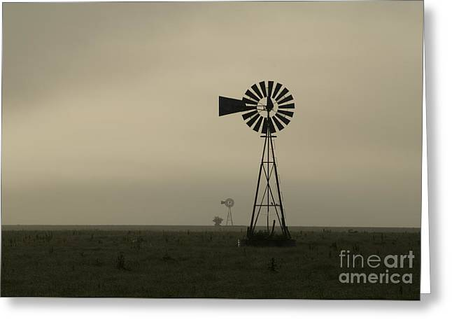 Windmill Perspective Greeting Card by Fred Lassmann