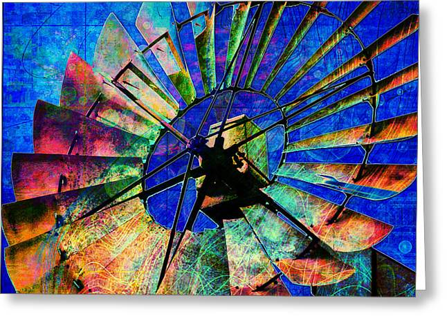 Windmill Power Greeting Card