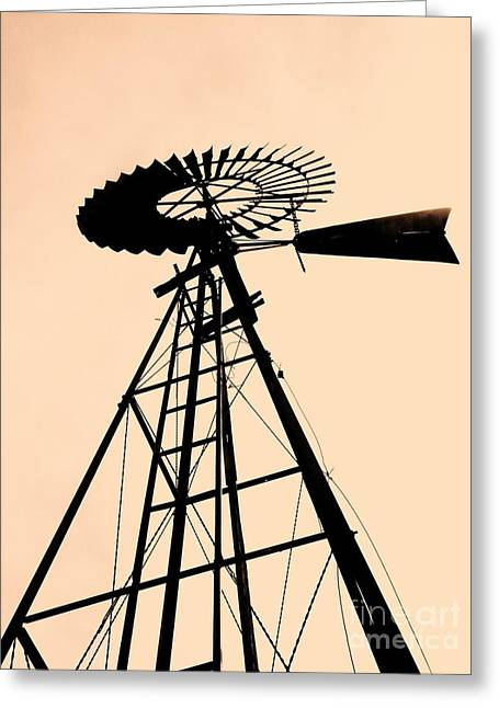 Windmill Standing Tall Greeting Card by Christine Belt