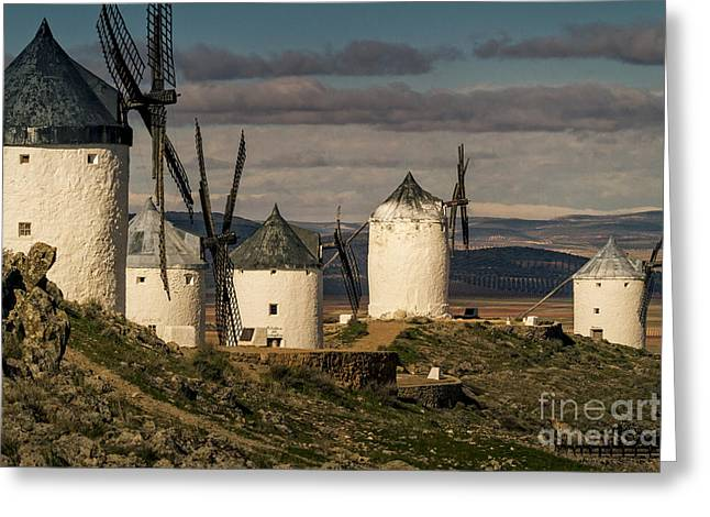 Windmills Of La Mancha Greeting Card