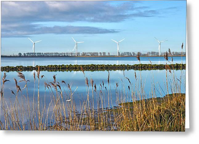 Windmills On A Windless Morning Greeting Card