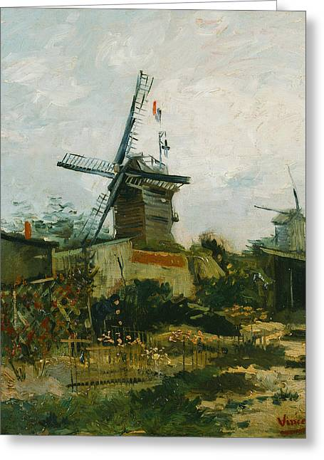 Windmills On Montmartre Greeting Card by Vincent van Gogh