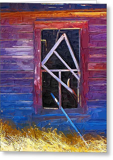 Greeting Card featuring the photograph Window-1 by Susan Kinney