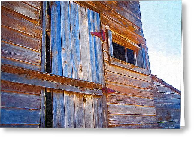 Greeting Card featuring the photograph Window 3 by Susan Kinney