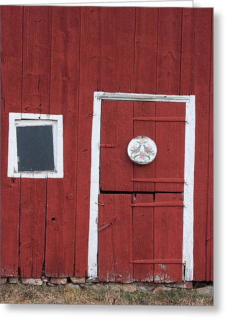 Window And Door Greeting Card by Robert Sander
