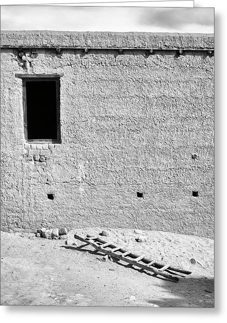 Window And Ladder, Shey, 2005 Greeting Card