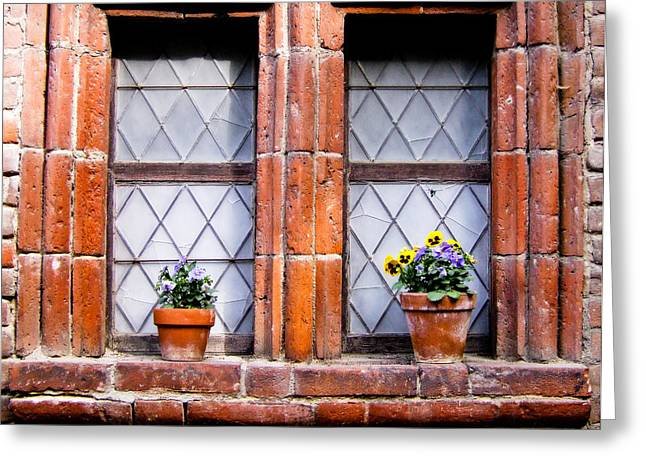 Window And Pots II Greeting Card by Carl Jackson