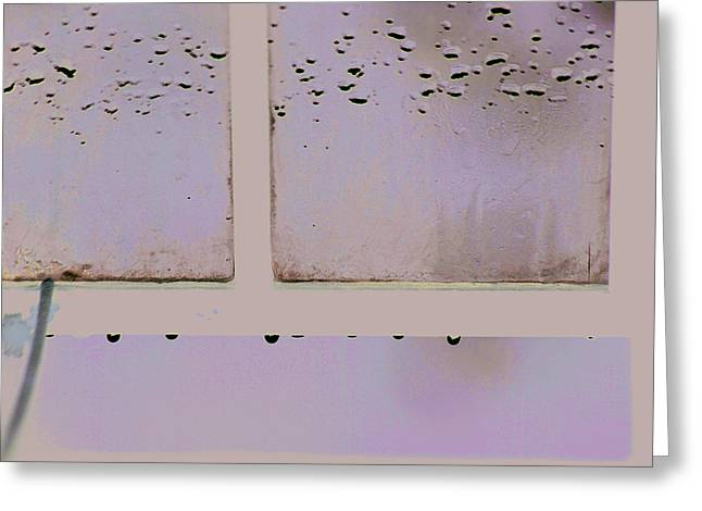 Window And Raindrops Greeting Card