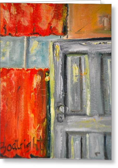 Window And The Pantry Door Greeting Card by Diane Fiore