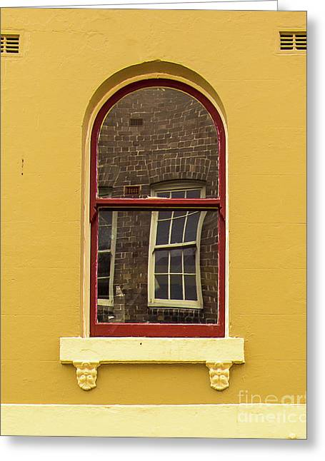 Greeting Card featuring the photograph Window And Window 2 by Perry Webster