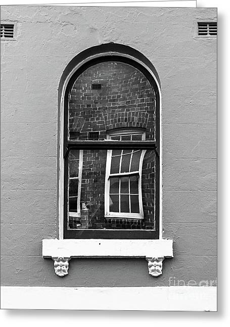 Greeting Card featuring the photograph Window And Window by Perry Webster