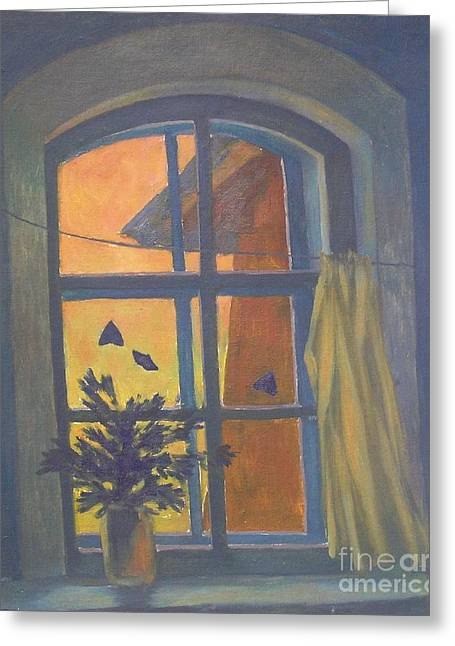 Window Greeting Card by Andrey Soldatenko