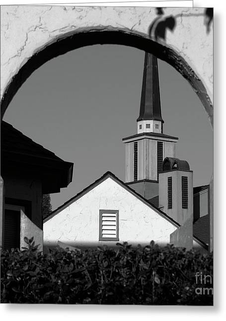 Window Arch Greeting Card by CML Brown