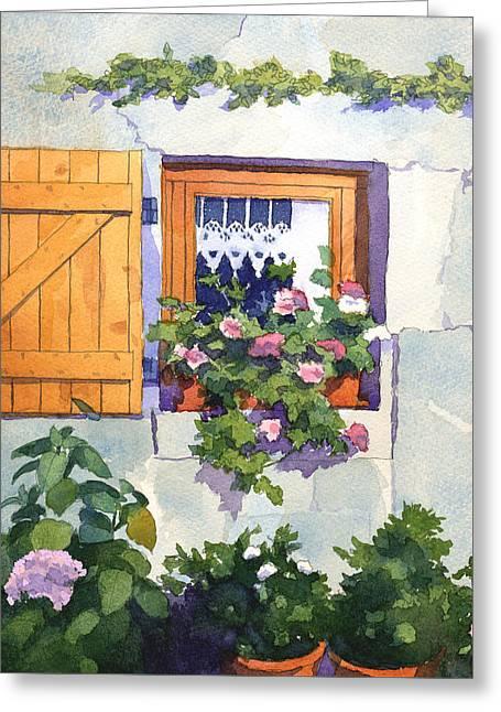 Window At St Saturnin Greeting Card