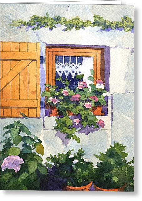 Window At St Saturnin Greeting Card