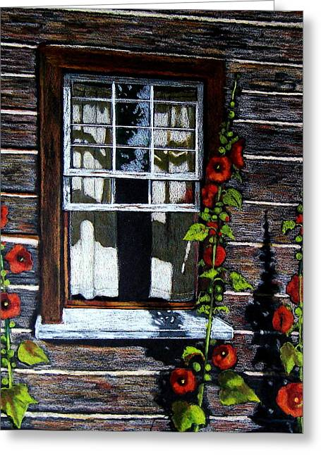 Window At Upper Canada Village Greeting Card
