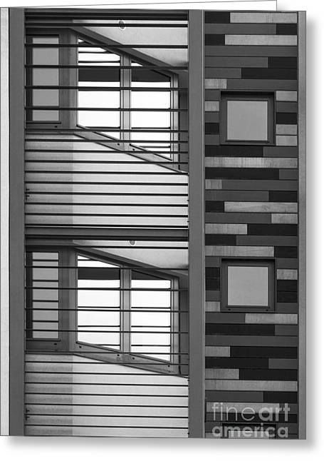 Vertical Horizontal Abstract Greeting Card by Wendy Wilton