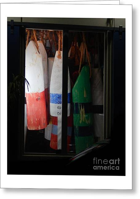 Window Buoys Key West Greeting Card by Expressionistart studio Priscilla Batzell