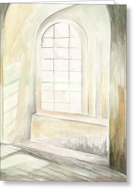 Greeting Card featuring the painting Window by Darren Cannell