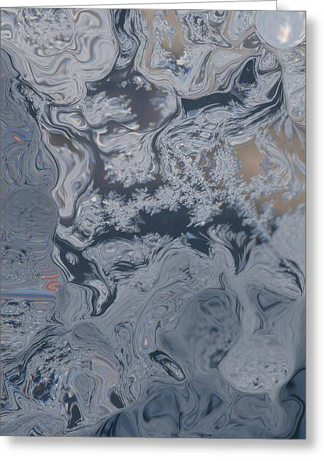 Window Frost Abstract I Greeting Card by Michelle  BarlondSmith