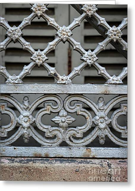 Window Grill In Toulouse Greeting Card