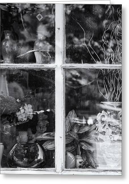 Window In Black And White Greeting Card