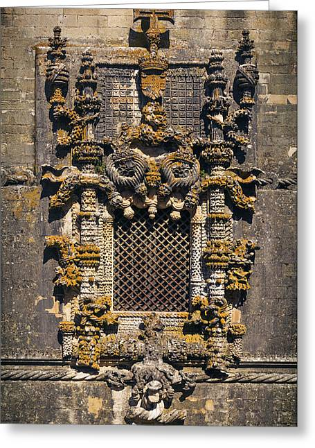Window In Convent Of Christ - Tomar Greeting Card