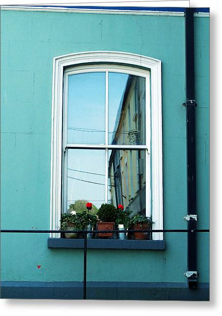 Window In Ennistymon Ireland Greeting Card