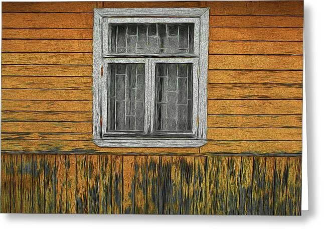 Window In The Old House Greeting Card
