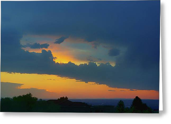 Window In The Sky - Albuquerque Sunset Greeting Card