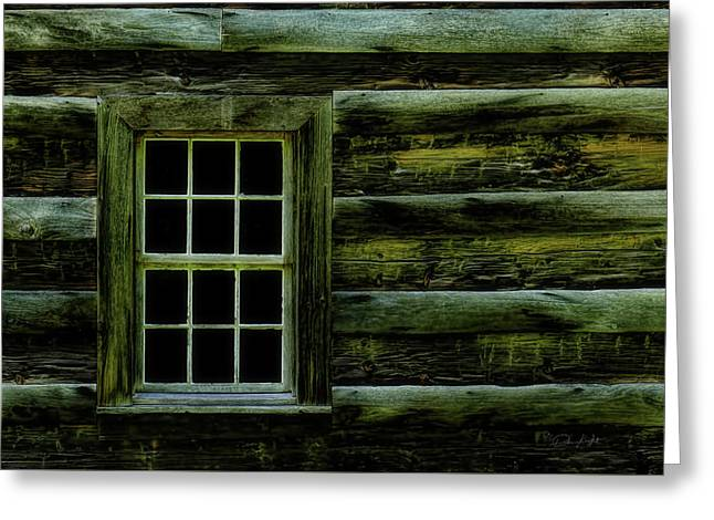 Window In Time Greeting Card by Elijah Knight