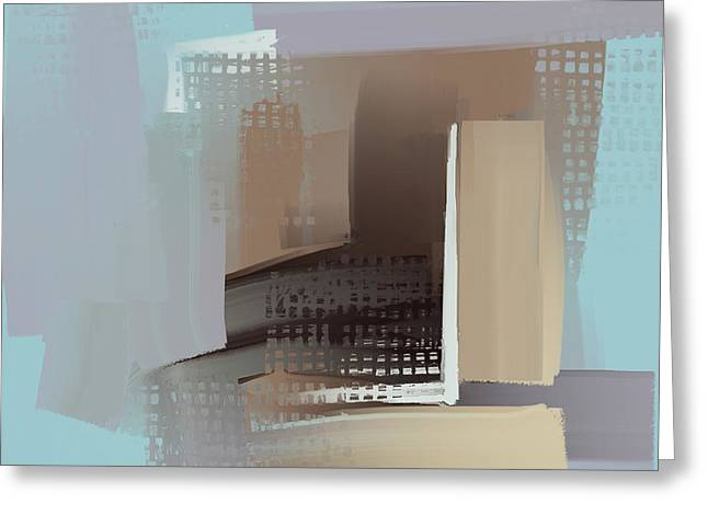 Greeting Card featuring the mixed media Window Morning View by Eduardo Tavares