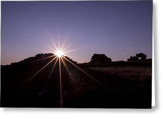 Sunset At Isalo National Park Greeting Card
