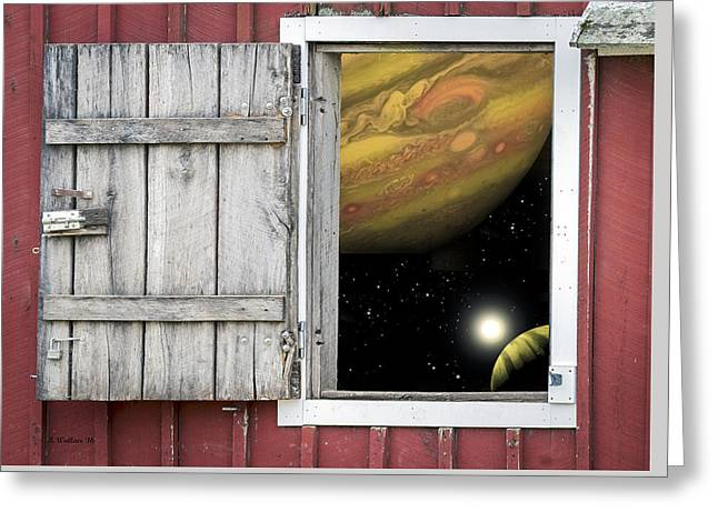 Window Of The Mind Greeting Card by Brian Wallace