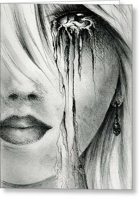 Window Of The Soul Greeting Card by Rachel Christine Nowicki