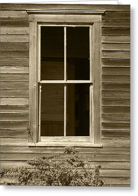 Window On Old Building Greeting Card by Donald  Erickson