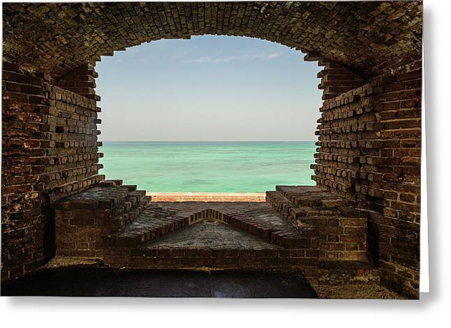 Window On The Gulf Greeting Card by Kristopher Schoenleber
