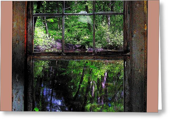 Window On The River Greeting Card