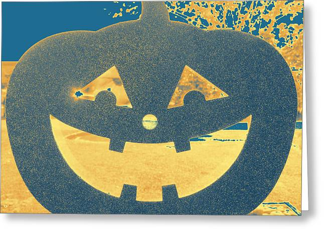 Window Pumpkin #2 Greeting Card