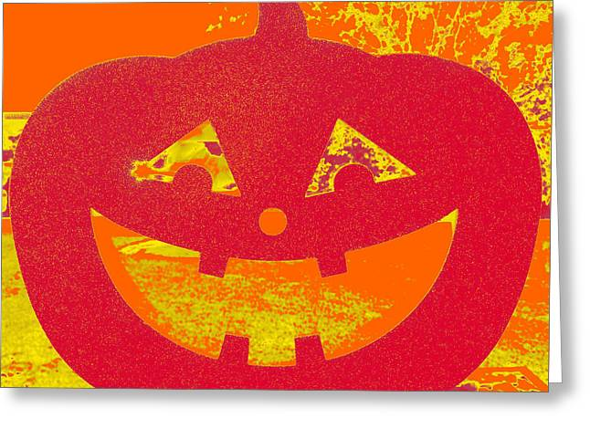 Window Pumpkin #4 Greeting Card